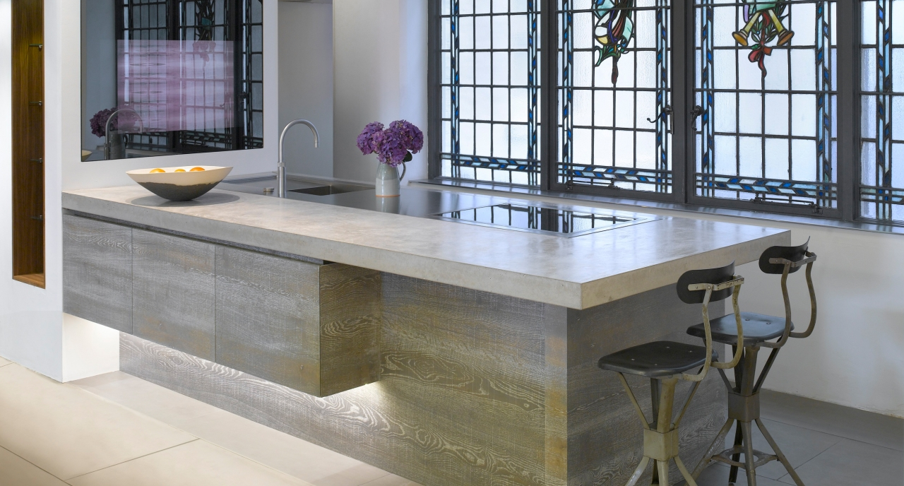 natural grey concrete countertop 3   kitchen designers   polished concrete countertops worktops and      rh   whiteandreid co uk